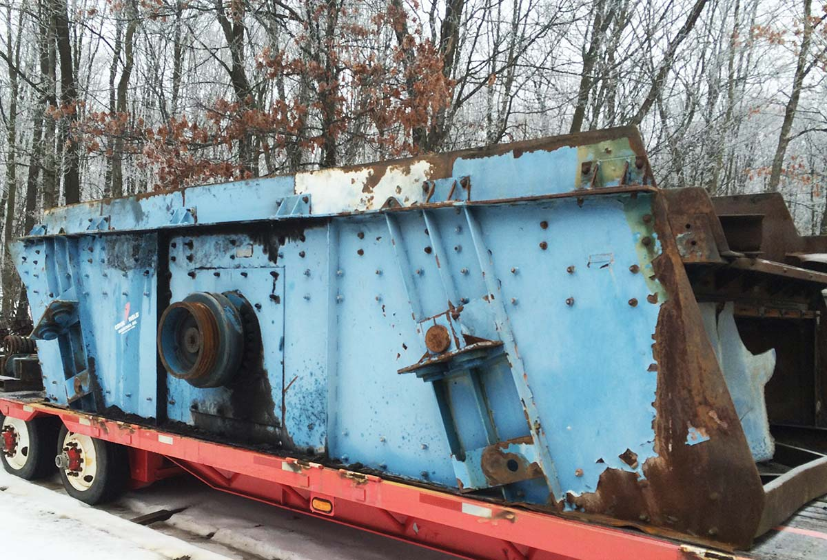 8x20 single deck incline screen conn weld